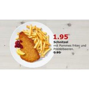 IKEA 柏林店本周日10月1日开门哦,猪排+薯条套餐原价5.95欧,折后1.95欧