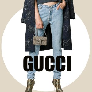 Gucci快收封面同款 GUCCI 链条小包