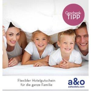A&&O Hotel超大家庭间2个大人+4个17岁以下小孩2晚仅需89欧!包含早餐,可以在6个国家22个城市使用!