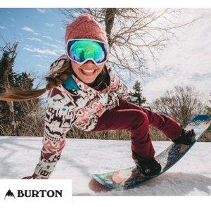 滑雪第一品牌Burton滑雪服饰、配件等3折起!!反季快囤装备!
