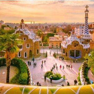 卡鲁、法兰克福Hahn到西班牙巴塞罗那往返机票只要20欧