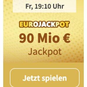EUROJACKPOT 买5注只要2欧,目前奖金金额高达9000万欧,周五19点开