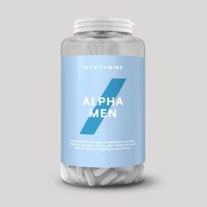 €6.4(原价€17.19) 微博转发送好礼独家:Myvitamins 折上4.3折 Alpha Men男士复合维生素片可以收