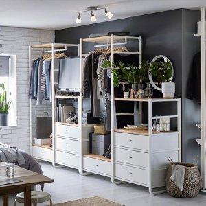 IKEA ELVARLI系列直减25欧!明星架子王!花小钱,轻松打造梦想的衣帽间~~