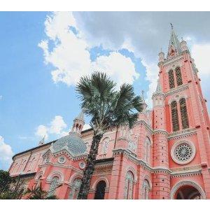 胡志明必打卡的梦幻粉色教堂!苏黎世到越南Hanoi 河内和Ho Chi Minh胡志明市往返机票+托运行李 只要441欧起
