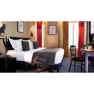 巴黎四星酒店Hôtel Le Chat Noir两晚住宿只要65欧!!