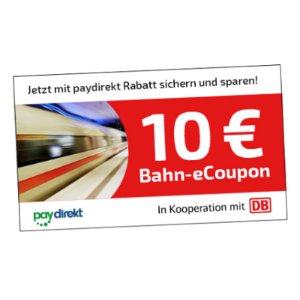 满29欧减10欧Paydirekt付款方式买德铁DB火车票