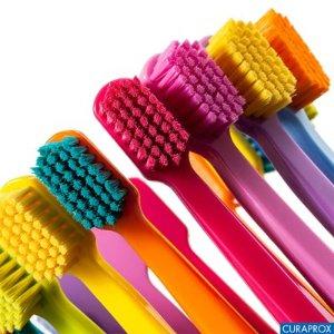 专业牙医推荐!瑞士Curaprox 超软刷毛牙刷3支装,原价13.99欧 折后9.8欧,刷毛含量达到5460根,一刷就再也离不开