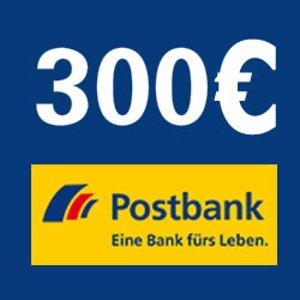 Postbank Giro extra plus转账账户+终身免费VISA卡或者MasterCard开户就送300欧