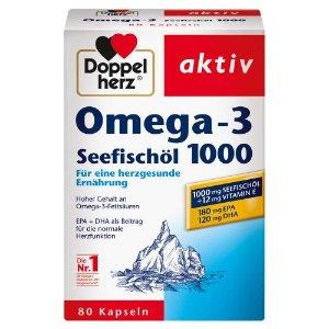 DoppelherzDoppelherz双心深海鱼油Omega-3 1000mg 80粒