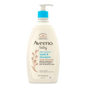 $9.98(原价$11.2)Aveeno 宝宝二合一洗发沐浴露 532ml 纯天然成分