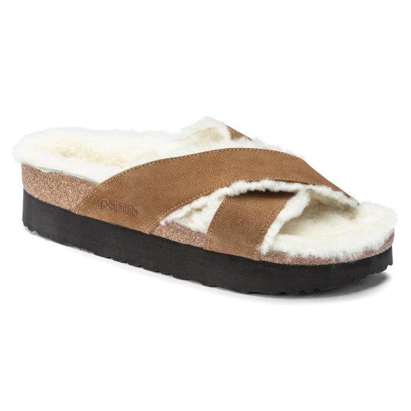 Daytona 厚底毛拖鞋
