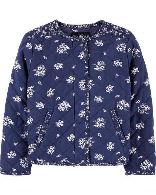 女小童印花夹克