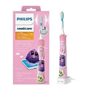Philips儿童电动牙刷,粉色