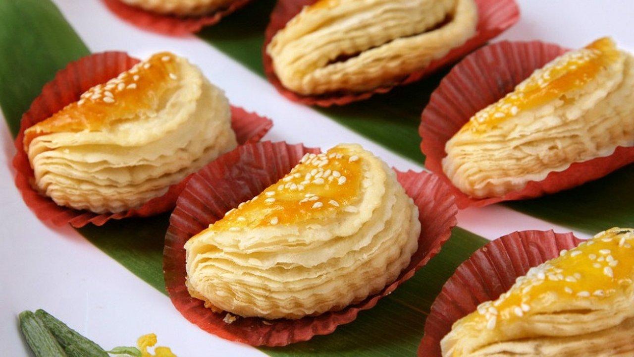 超级懒人快速版甜点:芒果酥+榴莲酥