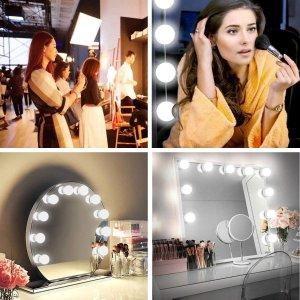 仅€19.99 安装超容易好莱坞风格 调光LED化妆镜 美妆博主必备单品 画出美美的妆