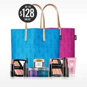 $128 Value GWP + 15% off with any Lancome $37.5 purchase @ Belk