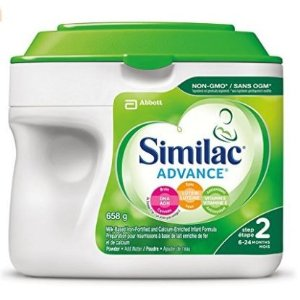 现价$26.1 (原价$32.99)Similac Advance 1段/2段不含转基因原料配方奶粉 658g