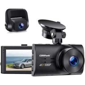 Campark DC30 双摄像头 行车记录仪 前摄4K 后摄1080p