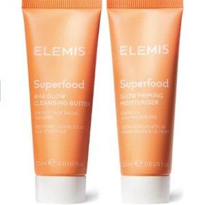 4.3折!€12.5就收Elemis 食物滋养系列肌肤焕亮套装 捡漏价收洁面+保湿霜