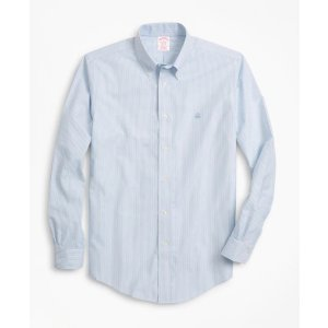 4 For $199Non-Iron Madison Fit Heathered Stripe Sport Shirt - Brooks Brothers