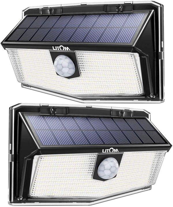 LITOM 太阳能LED户外感应灯 2个