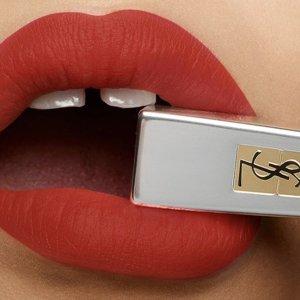 买2件享7.5折 $37收小金条YSL 精选彩妆大促 收金圆管唇膏新色、羽毛气垫