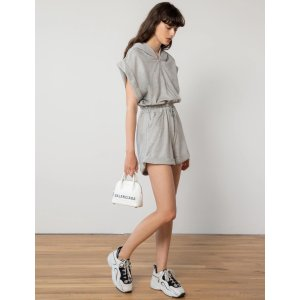 Pixie MarketGrey Zip Sweat Romper