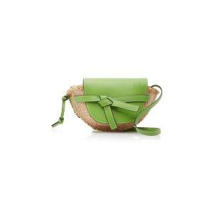 LoeweGate Mini Leather And Raffia Bag