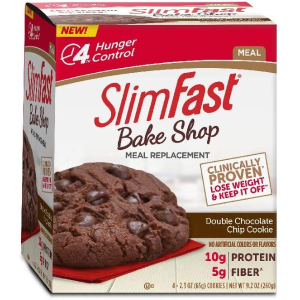 $2.32SlimFast Bakeshop Meal Replacement Cookie - Double Chocolate Chip 2.3 Oz, 4 Count