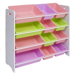 $43.99 家庭收纳的好帮手4层12格玩具储物整理架 分类更方便 颜色多选