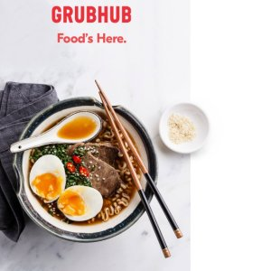 $10 offyour first order of $15+ @ GrubHub