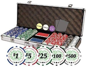Professional Casino Del Sol Poker Chips Set with Case (Set of 500), 11.5gm