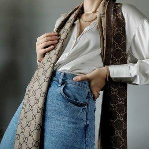 3.5折起 $63收BBR平替Unineed 围巾丝巾专场 Gucci、Moschino 等平价大牌 为秋冬准备
