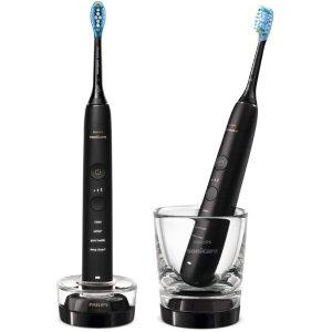 Philips史低价!2021最新款!9000 钻石电动牙刷 情侣2支装