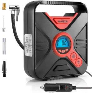 $33.98(原价$39.98)闪购:WindGallop 便携式车载电动充气泵 数字控制 读书更精准