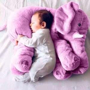 $9.99(原价$35.99)闪购:KidsTime 超可爱软萌的毛绒小象玩偶靠枕