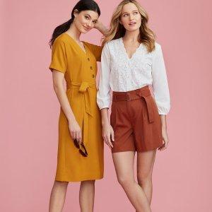 买1送1 + 满3件享额外8折Ann Taylor Factory 精选美裙热卖