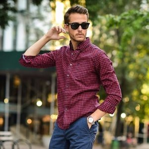 2件$60VAN HEUSEN 男士商务衬衫超值购 比买一赠一更赚
