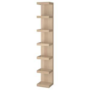 LACK Wall shelf unit - white stained oak effect - IKEA