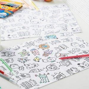 Simons Maison儿童涂鸦餐垫2件套+12支涂鸦笔