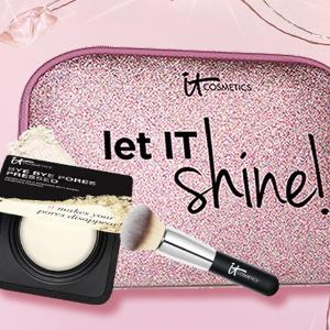 满£45送化妆刷+便携粉饼IT cosmetics 专业美妆热卖 夏日必备CC、眼下遮瑕收起来