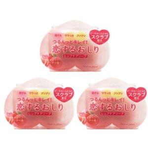 6块直邮美国到手价$36.6Pelican 美白清洁 去黑色素 美臀皂 水蜜桃香 80g*3块 特价