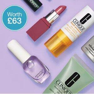满额立享£10收旅行装礼包(价值£63)Clinique 官网美妆护肤春季大促