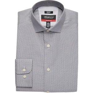 2 for $35Awearness Kenneth Cole Charcoal AWEAR-TECH Diamond Slim Fit Dress Shirt - Men's Shirts | Men's Wearhouse