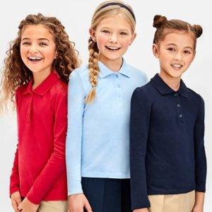 Children's Place儿童学校制服4-5折热卖