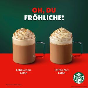 圣诞限定 Lebkuchen拿铁上市啦Starbucks 星巴克外卖开启 宅家不出门 也能享受咖啡的悠闲