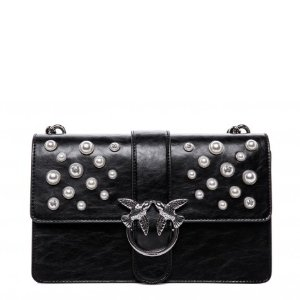 Pinko Cross Body Bag in Black