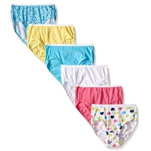 $3.15(原价$8.09)史低价:hanes 女小童纯棉内裤,6条装