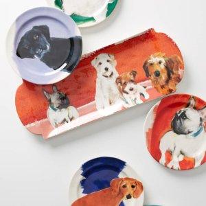 $9.8Anthropologie Dog-a-Day Stoneware Dessert Plate